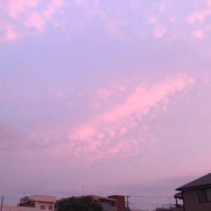 台風8号前の静かな夕焼け