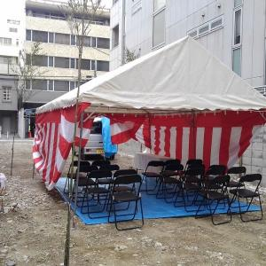 大阪市 中央区島之内 にて地鎮祭!
