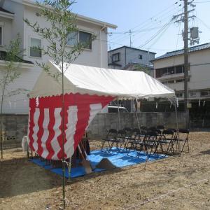 大阪府 羽曳野市はびきの にて地鎮祭!