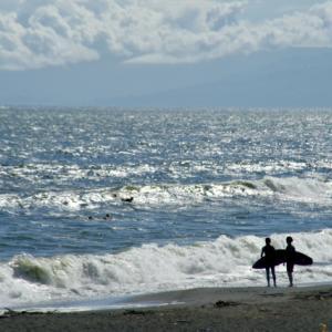 孫と眺めた海
