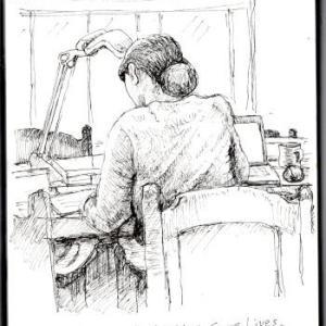 「在宅勤務」