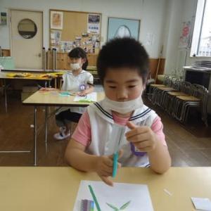 幼稚園火曜日コース★七夕製作&6月のカレンダー作り
