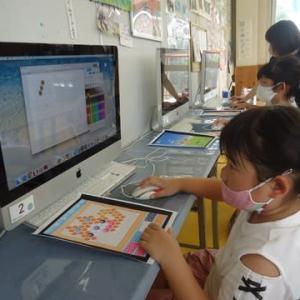月曜日コース・小学生★アクアビーズパソコンでドット絵に展開