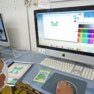 火曜日コース・小学生★アクアビーズパソコンでドット絵に展開
