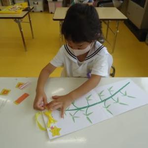 幼稚園コース★七夕飾りつけと7月のカレンダー製作