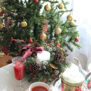 ♪今年のクリスマスリースとクリスマス紅茶♪