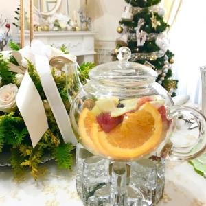 ♪クリスマスお茶会は、ポットフルーツティーがメインです♪