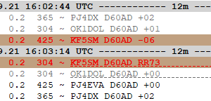 D60AD on 12m FT8(F/H)
