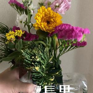 2月と4月の生け花