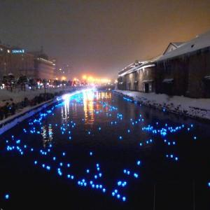 小樽運河のイルミ♪ マロンコロン♪