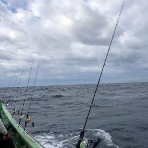 久々の波崎沖、中深海ジギングでアラ狙い 7、大漁だ