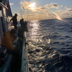 謹賀新年2020、初釣りは中深海で 4、新春初アタリ!
