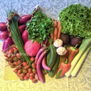 昨日、市場で買ったお野菜@ヴェネツィア