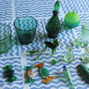 ガラスのオクラ 緑のガラス