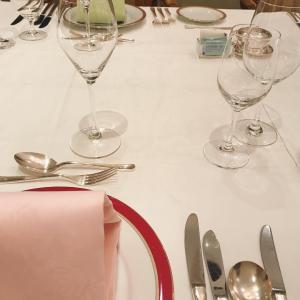 The New Otaniで晩餐会用のディナーの試食会