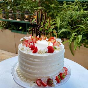 【コロナ婚】ケーキカット&ケーキの完成図