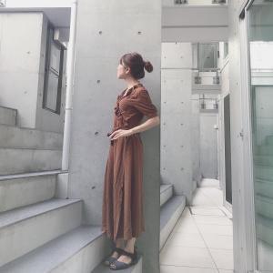 ネコアクセ✖️ユニクロのイネスコラボ カシュクールワンピース by WEAR