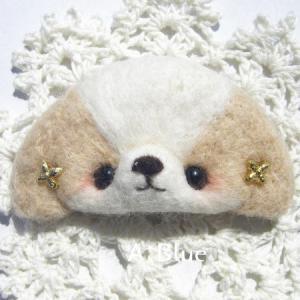 羊毛フェルト/わんこさんのブローチ♪シーズー