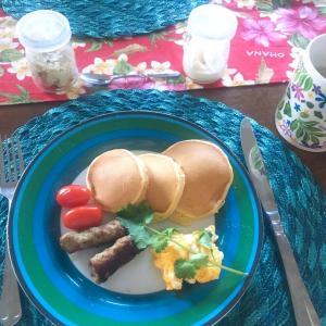 パンケーキの朝ごはん☆