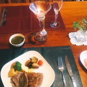 コストコのTボーンラム肉でステーキディナー☆