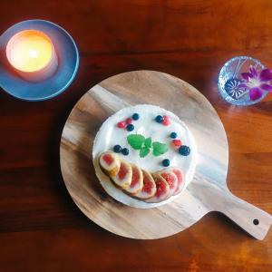 イチジクのレアチーズケーキ☆