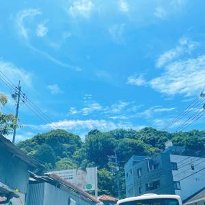 レインボーカラーの雲を見た☆
