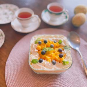 マンゴームーススコップケーキを作ってみた☆