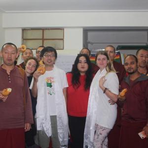 チベット難民の学校の今年の最終日