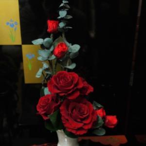 日曜レッスン…基本形をシンプルな花材で・・・