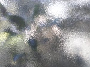 凸凹ガラスのお掃除