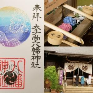 太子堂八幡神社の御朱印(6月、夏越大祓)