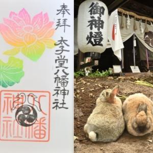 太子堂八幡神社の御朱印(7月と七夕とみたま祭)