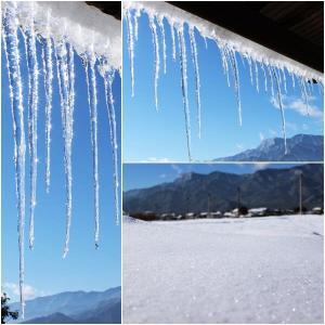 雪と氷の風景&温かい食べ物