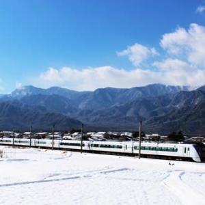 冬景色 二段氷柱と雪庇