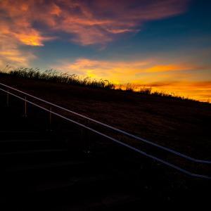 江戸川河川敷の夕暮れ~台風が明けて  ~Studio Lasp が撮る柴又の景色