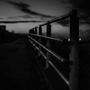 夕暮れの江戸川土手の手摺~伊藤竜太(Studio Lasp)が撮る柴又の景色