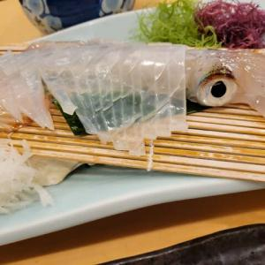 野暮用で行った福岡の河太郎のイカの活造りが忘れられない・・!!