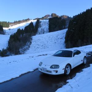 スキー場までドライブ