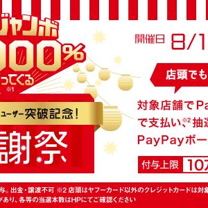 Yahoo店ではPayPayジャンボで最大10万円が戻ってくる!かも