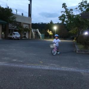 自転車の練習の成果!