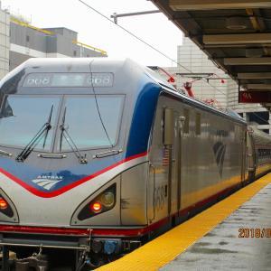 ボストンへの列車の旅