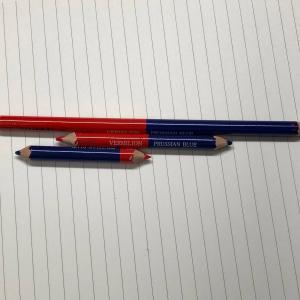 ●色鉛筆はカッターで削る♪