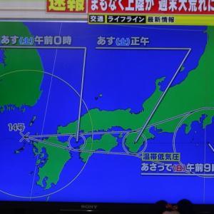 台風14号と総裁選