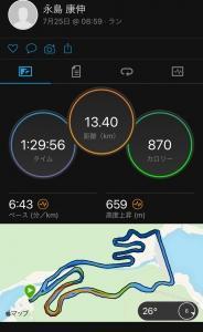 連休中 福智山ダムでトレーニング