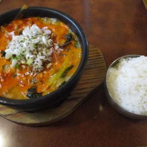 船橋グルメ 韓国料理 丸い月でユッケジャン定食(730円)でランチを頂きました!辛うまでボリューム満点でした!