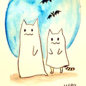 【今日のイラスト】もうすぐハロウィン。可愛い仮装がやってきた。