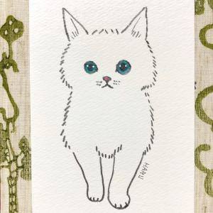 エボニーペンシルで猫のイラスト。
