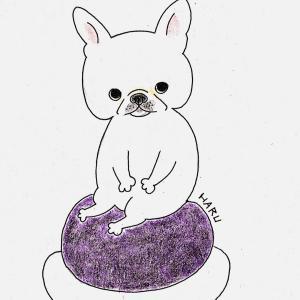 春のお彼岸入り【おはぎが好きな犬】イラスト