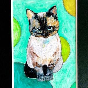 【ペットの似顔絵】猫のバロン君