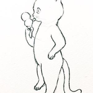 【クレヨンイラスト】アイスクリームの日